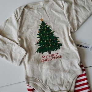 Infant Old Navy First 1st Christmas outfit 12-18 m